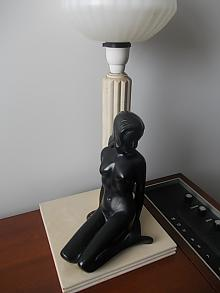 60s Ceramic Figure Lamp