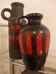 2 German Pottery Vases