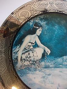 Maori Maiden Convex Picture Mirror