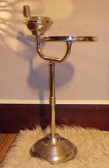 Chrome Side  Table & Ashtray Stand