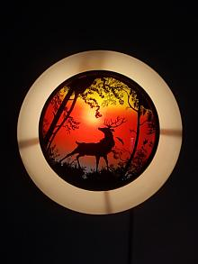 Stunning Stag Wall Lamp