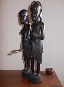 Carved Tribal Statues