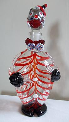 Murano? Clown Decanter