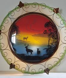 Sunset Deer Scene, Wall Lamp