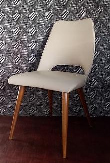 Stylish Vinyl Mid Century Dining Chair