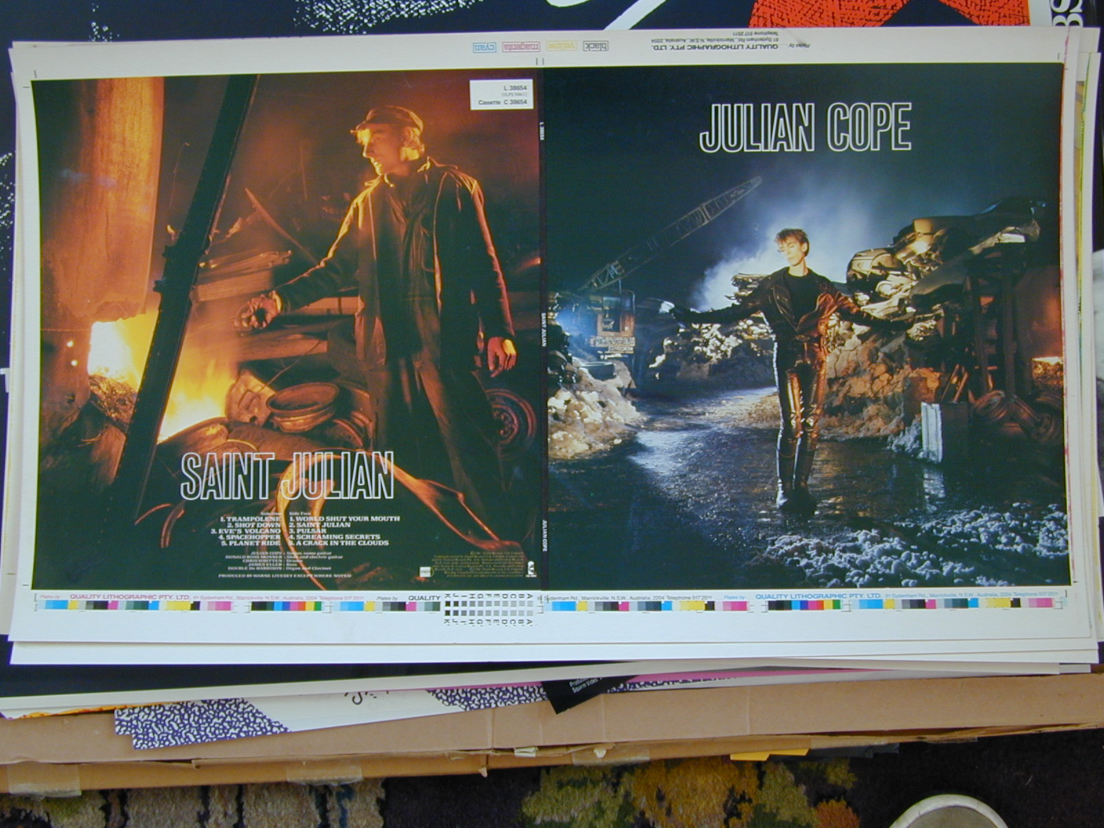 Untrimmed record sleeve - Julian Cope - Saint Julian